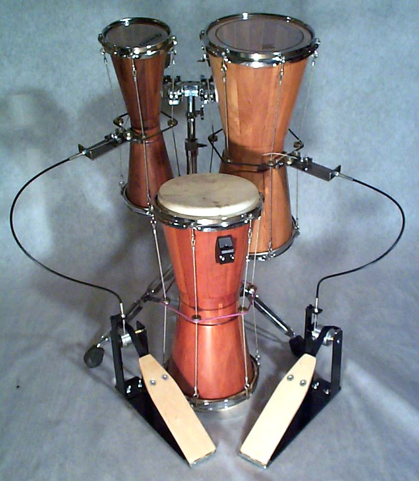 291f0d7cc88f HIGH TECH TALKING DRUMS with Foot-Action Pitch Change